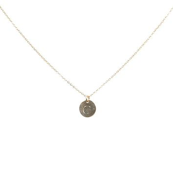 Monogram Necklace on Thin Chain