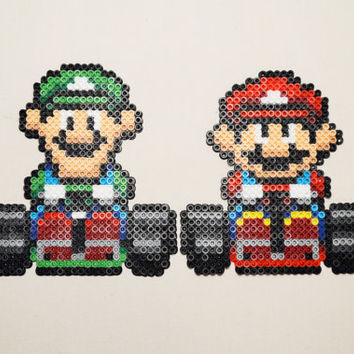 Mario Kart Character Perler Magnets/Ornaments