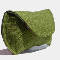 Basketweave Sunglass Case for Large Sunglasses - Grass