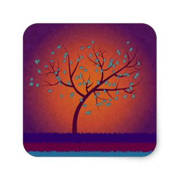 Tree of Life Square Sticker