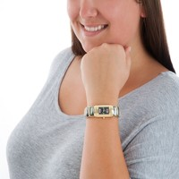 Ladies Black Hills Gold Bangle Watch with Shell Trim | Overstock.com Shopping - The Best Deals on More Brands Women's Watches