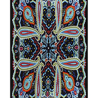 Sunshine Joy 3D Paisley Tapestry Tablecloth Beach Sheet 60x90 Inches - Electric Blue - FREE 3D GLASSES INCLUDED