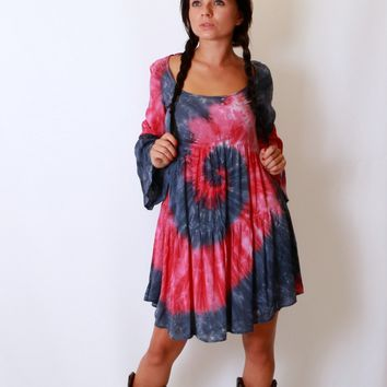 Splattered Tye-Dye Dress