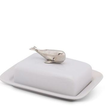 Whale Stoneware Butter dish