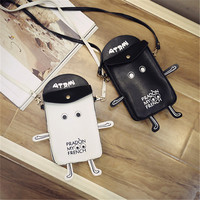 Korean Fashion Simple Design Cartoons Stylish Casual Lovely Phone Bags Shoulder Bag [8226881351]