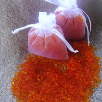 Aroma Bead Sachet, Scented Sachet, Orange Beads, Air Fresheners, Party Favors, Sex on The Beach,  OOT Gift Bags, Made to Order