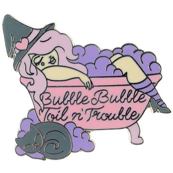 PUNKY PINS TOIL AND TROUBLE ENAMEL PIN