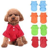 KINGMAS® 4Pcs Pet Dog Puppy Polo T-Shirt Clothes Outfit Apparel Coats Tops (Small)