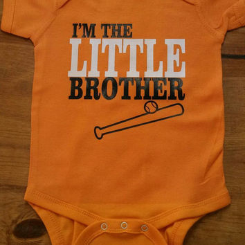 "Custom Bodysuit "" I'm the LITTLE Brother"" with mascot or Number on the back!"