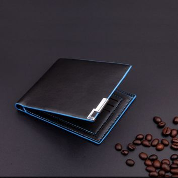 Men Stylish Business Leather Wallet Card Holder Coin Wallet Purse luxury men wallet famous brand credit card holdersMar14