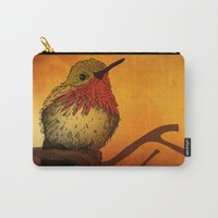 The Sunset Bird Carry-All Pouch by Texnotropio