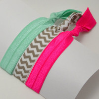 Super Soft Hair Ties - Set of Three Summer Nights Ponytail Holders