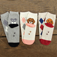 Brand New women cartoon socks autumn-winter women's Cute cartoon cotton animal sock fashion ladies socks