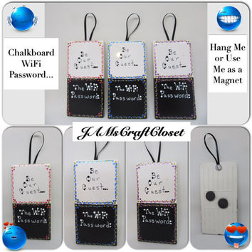 WiFi Magnets-WiFi Wall Hanging- WiFi Password- WiFi Chalkboard-Gift-Home Decor-Office Decor-Computer Accessory-Internet Help-Tech Gadgets