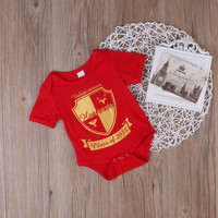 Newborn Baby Boys Girls Clothes Summer Red Short Sleeve Cartoon Cotton Harry Potter Romper Jumpsuit One-Pieces Clothes