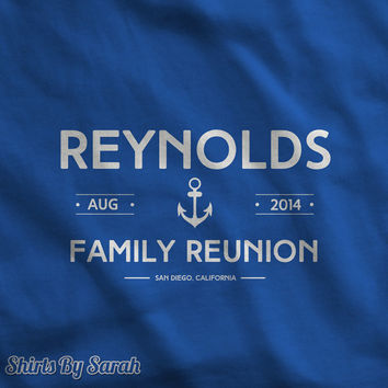 Personalized Nautical Reunion Shirts - Family Vacation T-Shirts Anchor Unisex Men's Women's Personalized Tees
