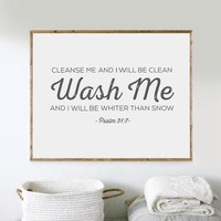 Laundry Wall Art Bible Verse Print Wall Pictures , Scripture Poster Canvas Poster Laundry Room Art Decor
