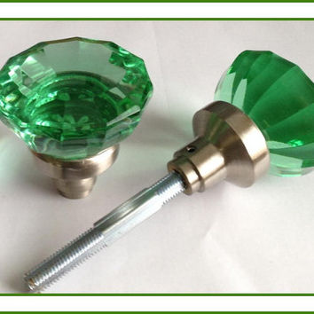 Door Knob Pull Large Crystal Glass For From Rousso Designs