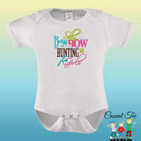 EMBROIDERED Silly Boys Bow Hunting is for Girls Funny Baby Bodysuit or Toddler Tshirt