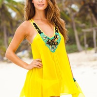 Sauvage Canary Yellow Silk Tunic