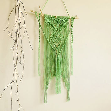 Macrame tapestry, wall hanging, wall decor, green, boho, bohemian, makrame, boho home, wall tapestry, modern macrame, room decor, macrame