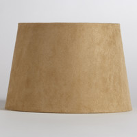 Natural Suede Accent Lamp Shade - World Market