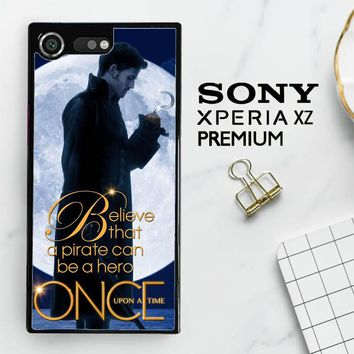 Once Upon A Time Captain Hook Believe F0542 Sony Xperia XZ Premium Case