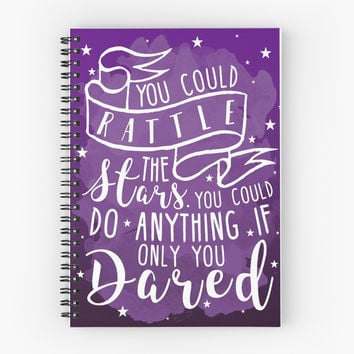 'You Could Rattle The Stars' Spiral Notebook by LovelyOwlsBooks