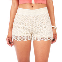 Pin Wheel Lace Shorts - Lace Shorts at Pinkice.com