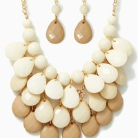 Layered Teardrops Necklace Set | Jewelry Bib Gradient | charming charlie
