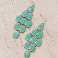 Wanderlust Chandelier Earrings - Teal