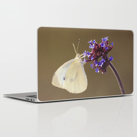 Flower with Butterfly Laptop & iPad Skin by Cinema4design