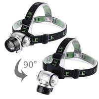 Lighting Led Headlamp, 18 White Led And 2 Red Led, 4 Brightness Level Choice, Led Headlamps with 3 Aaa Batteries