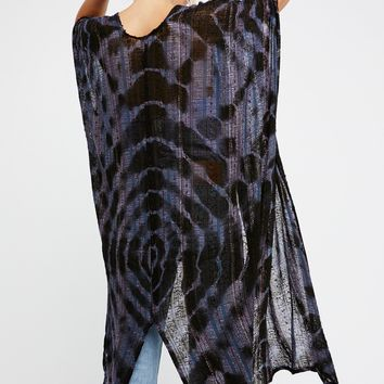 Free People Out To Sea Maxi Kimono