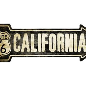 Smart Blonde Outdoor Decor Vintage Route 66 California Novelty Metal Arrow Sign A-126