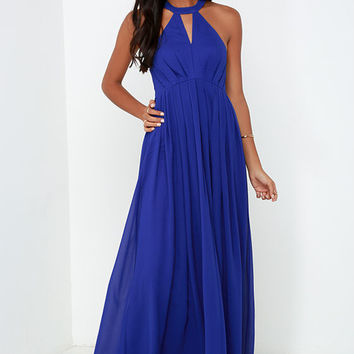 Bariano Tender Moment Royal Blue Maxi Dress