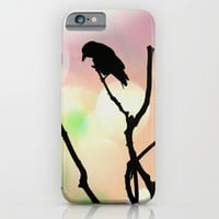 The Lonely Crow At Sunset iPhone & iPod Case by minx267
