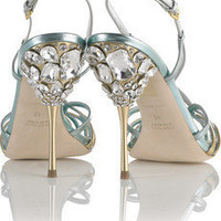 Miu Miu | Strappy jeweled sandals  | NET-A-PORTER.COM