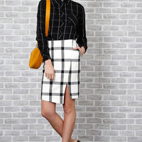Spotlight Gingham Skirt