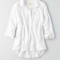 AEO Pullover Button Shirt, White