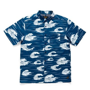 10 Deep: Island Life Button Down Shirt - Blue