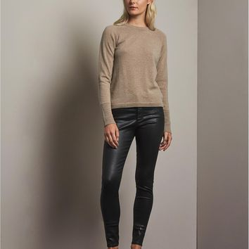 AG Adriano Goldschmied Women's Black Coated Skinny Jeans