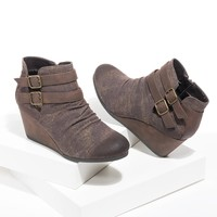 Sabrine Wedge Booties
