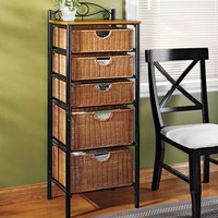 Wicker Storage Unit 5-drawer | Home Living | SkyMall