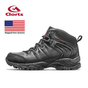 Shipped From USA Clorts Women Hiking Boots Black Hunger Game Outdoor Hiking Shoes Waterproof Sport Sneakers HKM-822D