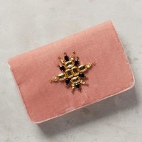 Shiraleah Brenta Velvet Pouch in Pink Size: One Size Clutches