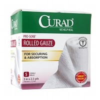 Curad Pro-Sorb Rolled Gauze Sterile Rolls 3 in x 2.5 yds (76 mm x 2.2 m) White | Walgreens