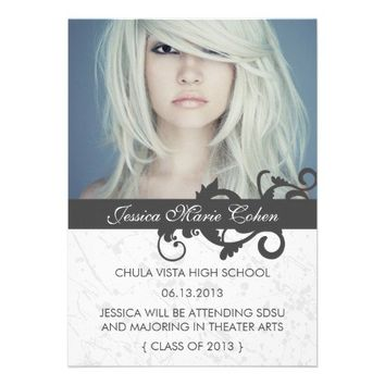 Wild Swirls Class of 2013 Graduation Announcement from Zazzle.com