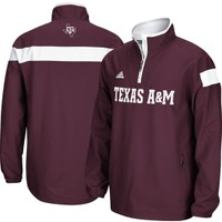 adidas Men's Texas A&M Aggies Maroon Sideline Quarter-Zip Woven Jacket