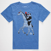 Riot Society Aztec Panda Giraffe Boys T-Shirt Heather Blue  In Sizes